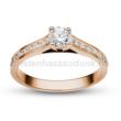 E111RC - CIRKÓNIA köves rozé arany Eljegyzési Gyűrű