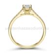 E111SC - CIRKÓNIA köves sárga arany Eljegyzési Gyűrű