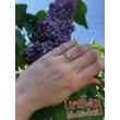 E111FZK_B - KÉK ZAFÍR - GYÉMÁNT köves fehér arany Eljegyzési Gyűrű