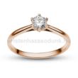 E114RC - CIRKÓNIA köves rozé arany Eljegyzési Gyűrű