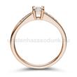 E115RB39 - GYÉMÁNT:  0.39 CT (4.2mm Ø) Eljegyzési Gyűrű