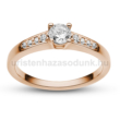 E115RC - CIRKÓNIA köves rozé arany Eljegyzési Gyűrű