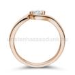 E116RC - CIRKÓNIA köves rozé arany Eljegyzési Gyűrű