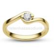E116SC - CIRKÓNIA köves sárga arany Eljegyzési Gyűrű