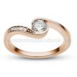 E119RC - CIRKÓNIA köves rozé arany Eljegyzési Gyűrű