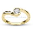 E119SC - CIRKÓNIA köves sárga arany Eljegyzési Gyűrű
