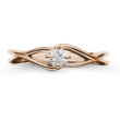 E120RC - CIRKÓNIA köves rozé arany Eljegyzési Gyűrű