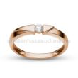 E12RB11 - GYÉMÁNT:  0.11 CT (=3.0mm Ø) Eljegyzési Gyűrű