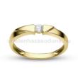 E12SB11 - GYÉMÁNT:  0.11 CT (=3.0mm Ø) Eljegyzési Gyűrű