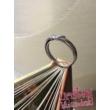 E12FM - AMETISZT köves fehér arany Eljegyzési Gyűrű