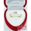 E13FR - RUBIN köves fehér arany Eljegyzési Gyűrű