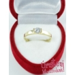E13FS - SMARAGD köves fehér arany Eljegyzési Gyűrű