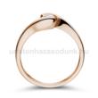 E14RB18 - GYÉMÁNT:  0.18 CT (=3.6mm Ø) Eljegyzési Gyűrű