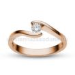 E14RC - CIRKÓNIA köves rozé arany Eljegyzési Gyűrű