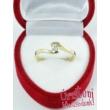 E14SC - CIRKÓNIA köves sárga arany Eljegyzési Gyűrű