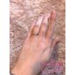 E15FS - SMARAGD köves fehér arany Eljegyzési Gyűrű