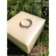 E16FM_B - AMETISZT - GYÉMÁNT köves fehér arany Eljegyzési Gyűrű