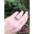 E16FS_B - SMARAGD - GYÉMÁNT köves fehér arany Eljegyzési Gyűrű