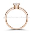 E17RC - CIRKÓNIA köves rozé arany Eljegyzési Gyűrű