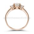 E18RC - CIRKÓNIA köves rozé arany Eljegyzési Gyűrű