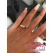 E18FM_B - AMETISZT - GYÉMÁNT köves fehér arany Eljegyzési Gyűrű