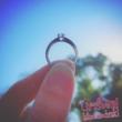 E1FR - RUBIN köves fehér arany Eljegyzési Gyűrű