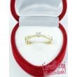 E1FK - AKVAMARIN köves fehér arany Eljegyzési Gyűrű