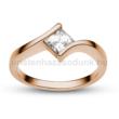 E202RC - CIRKÓNIA köves rozé arany Eljegyzési Gyűrű