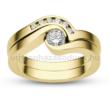 E204SC - CIRKÓNIA köves sárga arany Eljegyzési Gyűrű