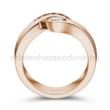 E204RC - CIRKÓNIA köves rozé arany Eljegyzési Gyűrű