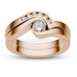 E204RB35 - GYÉMÁNT:  0.35 CT (=mm4.0Ø) Eljegyzési Gyűrű