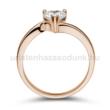 E207RC - CIRKÓNIA köves rozé arany Eljegyzési Gyűrű