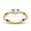 E208SC - CIRKÓNIA köves sárga arany Eljegyzési Gyűrű