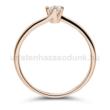 E209RB15 - GYÉMÁNT:  0.15 CT (3.40 mm Ø) Eljegyzési Gyűrű
