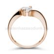 E20RC - CIRKÓNIA köves rozé arany Eljegyzési Gyűrű