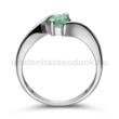 E20FS - SMARAGD köves fehér arany Eljegyzési Gyűrű