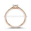 E210RC - CIRKÓNIA köves rozé arany Eljegyzési Gyűrű
