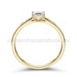 E210SC - CIRKÓNIA köves sárga arany Eljegyzési Gyűrű