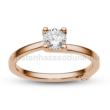 E211RC - CIRKÓNIA köves rozé arany Eljegyzési Gyűrű