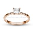 E213RC - CIRKÓNIA köves rozé arany Eljegyzési Gyűrű