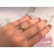 E21FS - SMARAGD köves fehér arany Eljegyzési Gyűrű