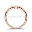 E22RC - CIRKÓNIA köves rozé arany Eljegyzési Gyűrű