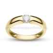 E22SC - CIRKÓNIA köves sárga arany Eljegyzési Gyűrű