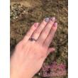 E23FZK - KÉK ZAFÍR köves fehér arany Eljegyzési Gyűrű