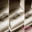 E25FZK - KÉK ZAFÍR köves fehér arany Eljegyzési Gyűrű