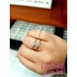 E25FR - RUBIN köves fehér arany Eljegyzési Gyűrű