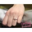 E26FZK - KÉK ZAFÍR köves fehér arany Eljegyzési Gyűrű