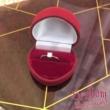 E26FB27 - GYÉMÁNT:  0.27 CT (=4.1mm Ø) Eljegyzési Gyűrű