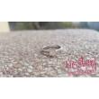 E28FM_B - AMETISZT - GYÉMÁNT köves fehér arany Eljegyzési Gyűrű