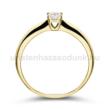 E2SB16 - GYÉMÁNT:  0.16 CT (=3.5mm Ø) Eljegyzési Gyűrű